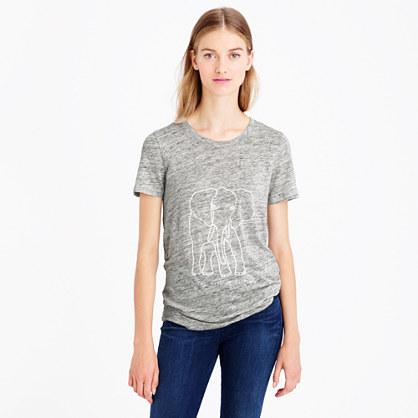 Women's J.Crew for David Sheldrick Wildlife Trust elephant T-shirt
