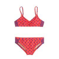 Girls' bikini set in stripes and dots