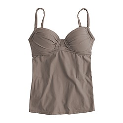 Ruched french swing tankini top