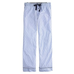 End-on-end pajama pant in swiss-dot