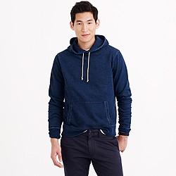 Wallace & Barnes indigo pullover hoodie