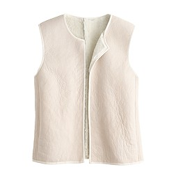 Collection reversible shearling vest