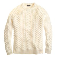 Mixed cable sweater