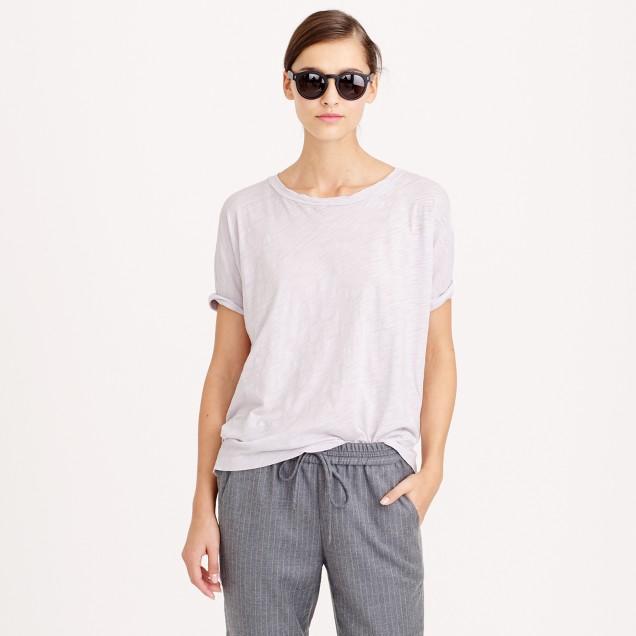 Roll-sleeve T-shirt
