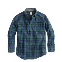 Boys' Secret Wash shirt in bright nightfall tartan