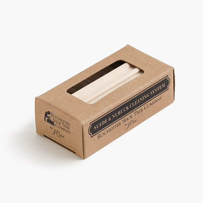 Rochester Shoe Tree Company® for J.Crew suede and nubuck cleaning system