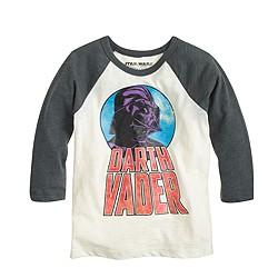 Kids' Star Wars™ for crewcuts glow-in-the-dark Darth Vader baseball T-shirt
