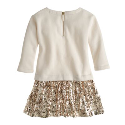 Girls' sequin-skirt sweatshirt dress : Girl dresses | J.Crew