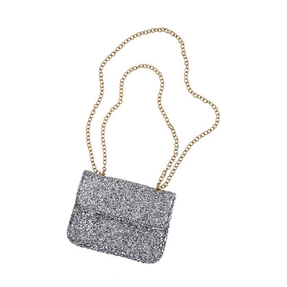 Girls' glitter crossbody bag