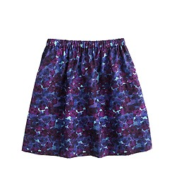 Girls' pull-on skirt in violet floral