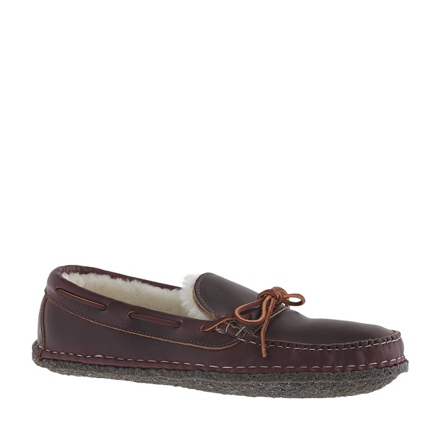 Men's Quoddy® for J.Crew shearling slippers