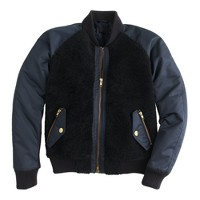 Collection shearling bomber jacket