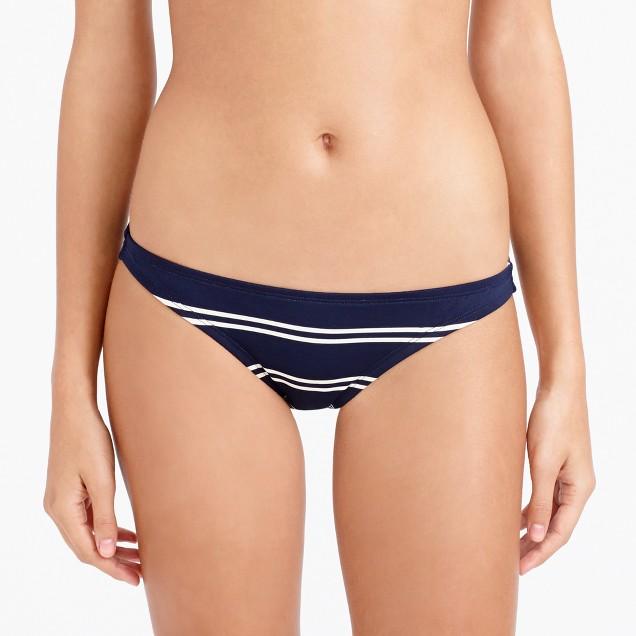 Double-stripe shrunken bikini hipster