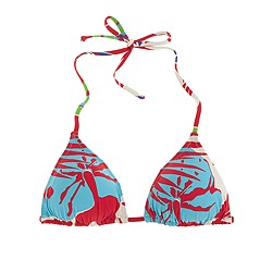 Paradise floral string bikini top