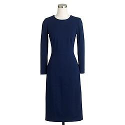 Structured knit zip dress
