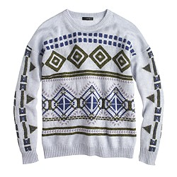 Abstract Fair Isle sweater