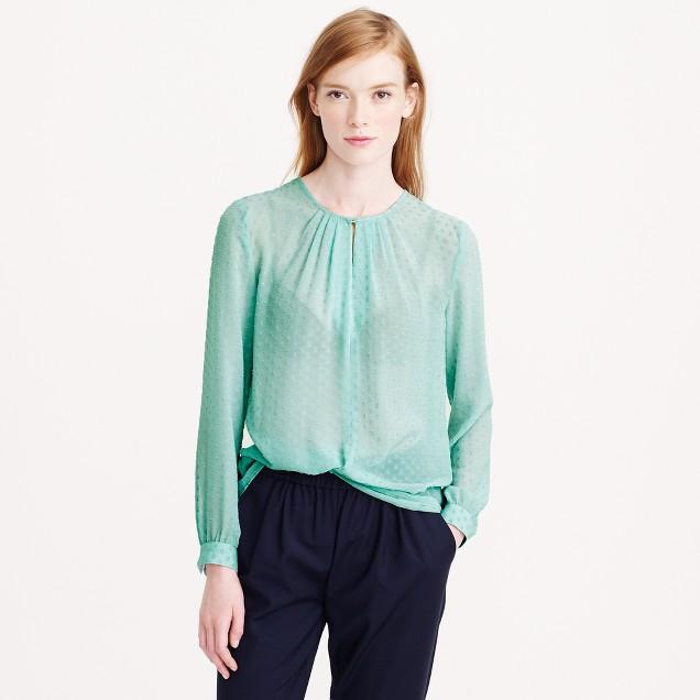 Swiss-dot blouse