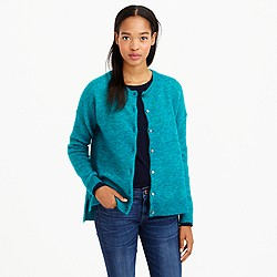 Marled mohair cardigan sweater