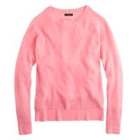 High-low crewneck sweater