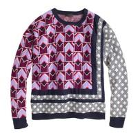 Mixed pattern sweater