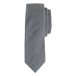 Italian silk-wool tie in diamond foulard