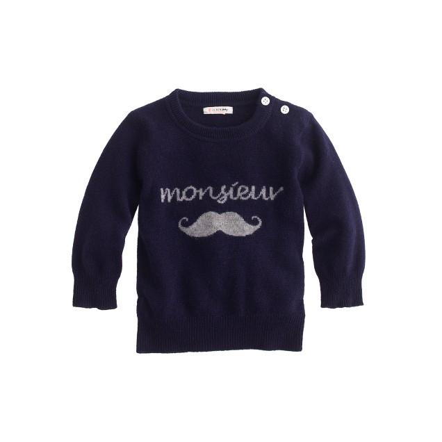 Baby cashmere sweatshirt in monsieur