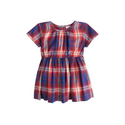 Baby plaid flannel dress