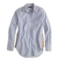 Gold side-stripe popover shirt