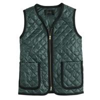 Quilted V-neck vest
