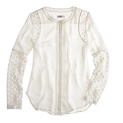 Silk georgette lace blouse