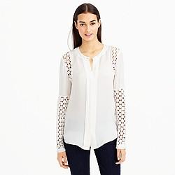 Silk georgette lace blouse