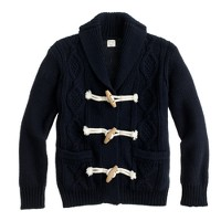 Boys' cotton toggle cardigan sweater