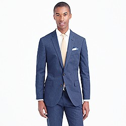 Ludlow suit jacket in heathered cotton