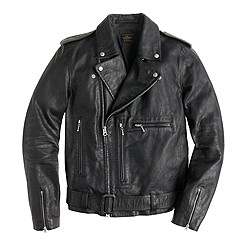 Italian leather studded motorcycle jacket
