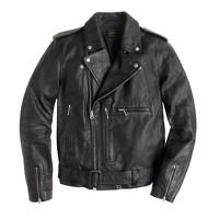 Italian leather studded motorcycle jacket