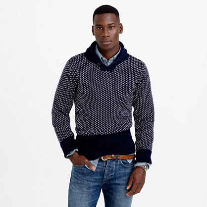 North Sea Clothing victory shawl-collar sweater