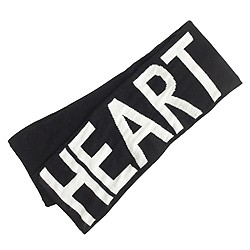 Kids' heart scarf