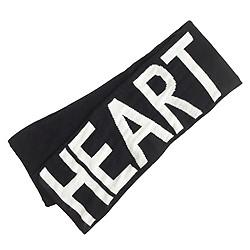 Kids' heart scarf