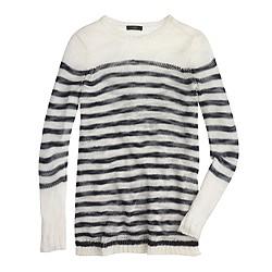 Open-knit sweater in stripe