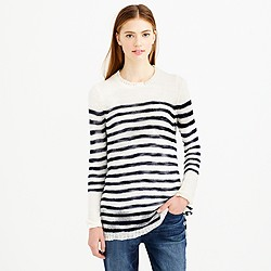 Open-knit sweater in stripe