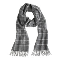 Collection cashmere scarf in black plaid