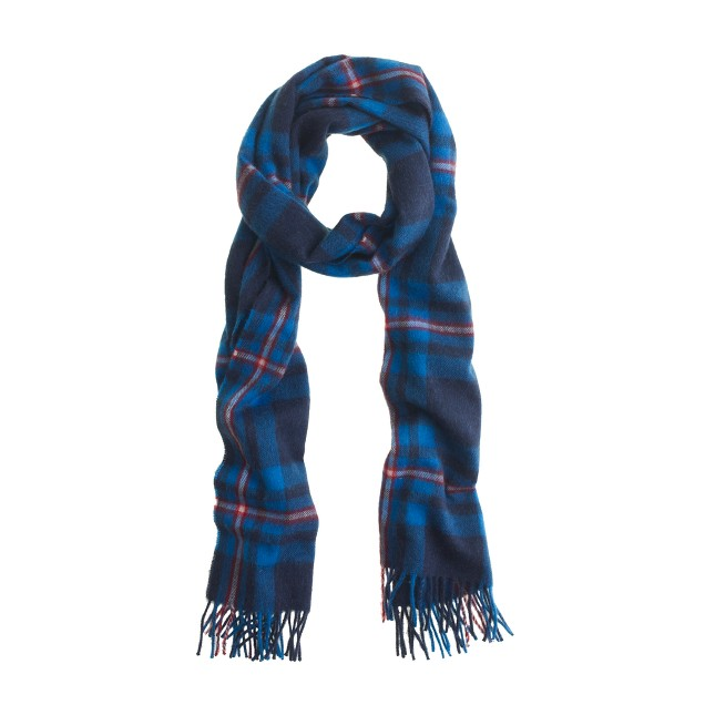 Collection cashmere plaid scarf