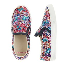 Girls' slide sneakers in rainbow sequins
