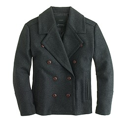 Tall wool melton peacoat