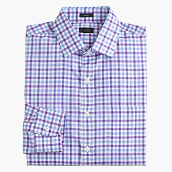 Crosby shirt in vivid grape tattersall