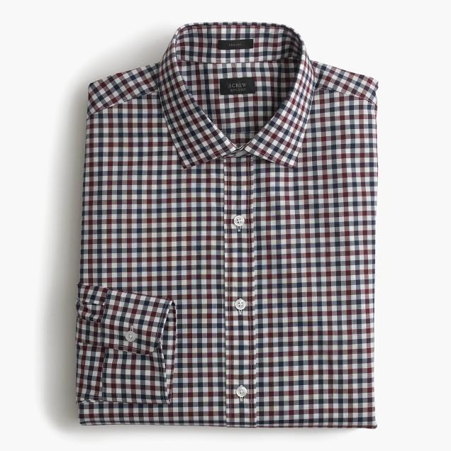 Crosby shirt in classic tattersall
