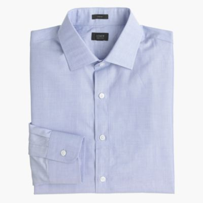 Crosby shirt in end-on-end cotton