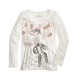 Girls' Olive birthday T-shirt