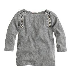 Girls' sequin chevron T-shirt
