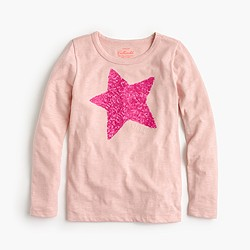 Girls' sequin star T-shirt